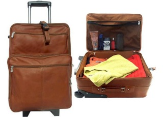 wheeled Leather Luggage Bags | Apex Leather Goods India