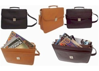 4 Step Down Leather Portfolio Bags Apex Leather Goods India