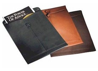 Leather manila folder for Interoffice envelope template cover